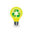 Bulb with recycle icon vector image vector image