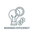 business efficiency line icon business vector image vector image
