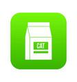 cat food bag icon digital green vector image