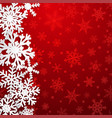 christmas background of snowflakes vector image