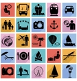 Collection flat icons with long shadow Travel vector image vector image