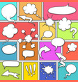 comic strip background vector image