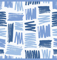creative seamless pattern with rough blue brush vector image vector image