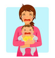 crying baby and crying mom vector image vector image