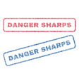danger sharps textile stamps vector image vector image