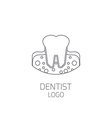 Dentist logo Tooth logo vector image vector image