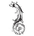 dolphin pen drawing was designed lucas von vector image vector image