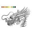 Dragon coloring page template vector image vector image