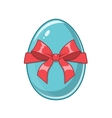 Easter egg Bright colored holiday symbol vector image vector image