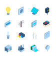 electricity sign 3d icon set isometric view vector image
