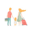 family travelling together father mother and vector image vector image