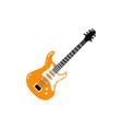 Flat black electric guitar icon isolated
