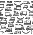 food trucks with sausage - food seamless pattern vector image vector image