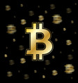 golden speed bitcoin background vector image