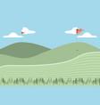 golf curse scene icon vector image