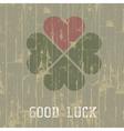 good luck retro symbol vector image