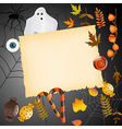 halloween card with place for your text vector image vector image