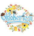 Hand sketched Oktoberfest icon vector image vector image
