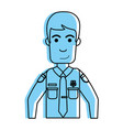 handsome happy police officer icon image vector image vector image