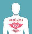 happiness quotes vector image