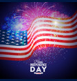 happy independence day of the usa vector image vector image