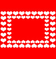 heart red and white vector image vector image