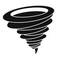 hurricane icon simple black style vector image vector image
