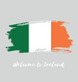 ireland watercolor national country flag icon vector image vector image