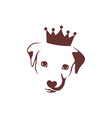 king dog logo icon concept vector image vector image