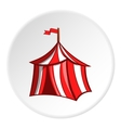 Knights tent icon cartoon style vector image