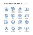 line abstract product color icons vector image