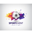 Logo for football teams and tournaments vector image