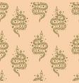 magical cute snakes seamless pattern magic boho vector image vector image