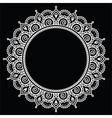 Mehndi Indian Henna tattoo round white pattern on vector image vector image