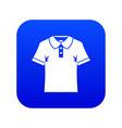 men polo shirt icon digital blue vector image vector image