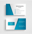 Modern light blue business card template vector image vector image