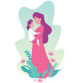 mother and child vector image