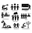 npo nonprofit organization foundation welfare set vector image