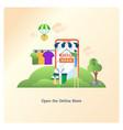 open online store vector image vector image