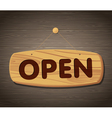 Open Wooden Sign Background vector image vector image