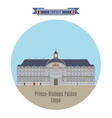 prince bishops palace liege vector image vector image