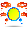 Questions and answer vector image