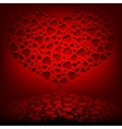 Red design with a set of hearts vector image