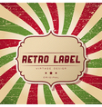 Retro styled background vector image vector image