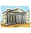 Rome Pantheon vector image vector image