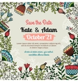 Save the date card with floral pattern vector image vector image