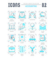 set line flat icons of accounting vector image