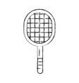 sketch draw sport racket cartoon vector image vector image