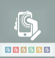 smartphone touchscreen icon concept vector image
