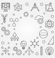 stem square frame education outline vector image vector image